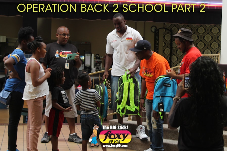 """Foxy 99 wanted to help children start their school year off right! Operation Back to School is a fun program where Foxy 99 encourages their listeners to donate school supplies for children in need. This year Foxy 99 held two """"Operation Back To School"""" events, one in Fayetteville and one in Lumberton. Thank you to…"""