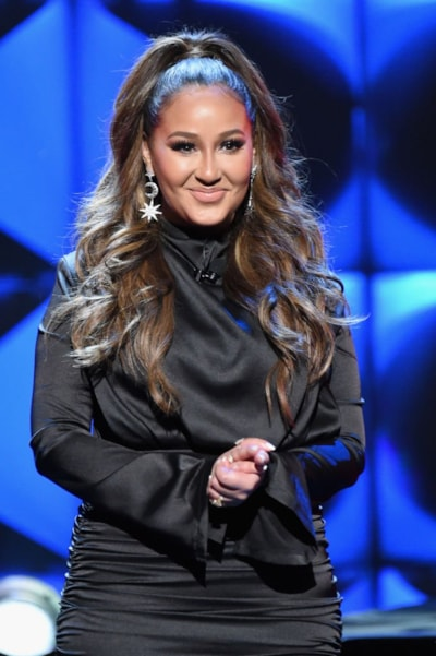 ATLANTA, GA - JANUARY 31:  Host Adrienne Bailon onstage at the 2019 Super Bowl Gospel Celebration at Atlanta Symphony Hall on January 31, 2019 in Atlanta, Georgia.  (Photo by Rick Diamond/Getty Images for BET)