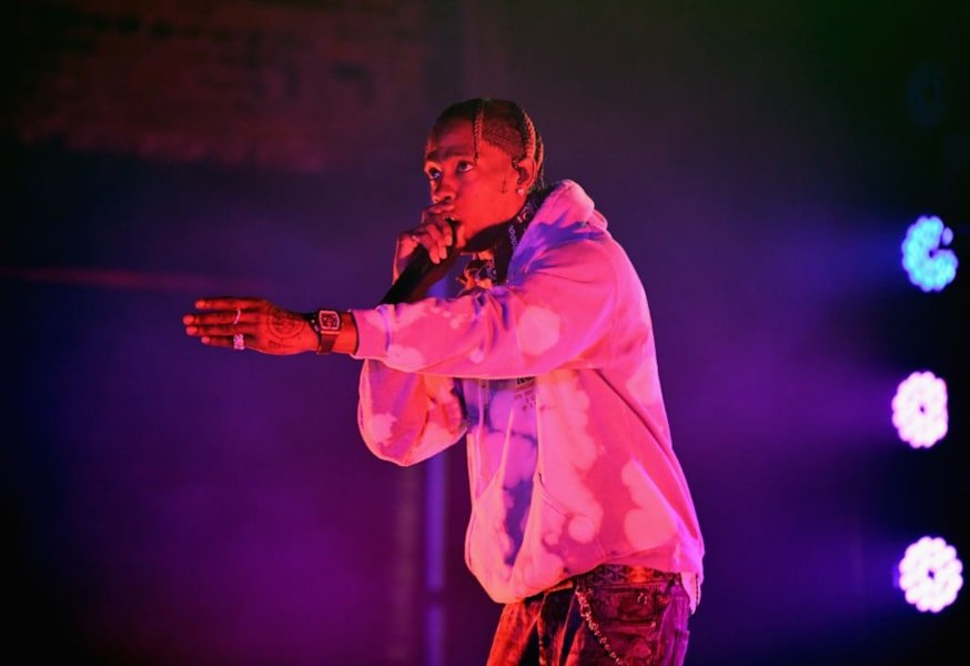 "ATLANTA, GA - FEBRUARY 01:  Travis Scott performs onstage during the ""Planet Pepsi"" Pre-Super Bowl LIII party, featuring Travis Scott, on February 1, 2019 in Atlanta, Georgia.  (Photo by Dimitrios Kambouris/Getty Images for Pepsi)"