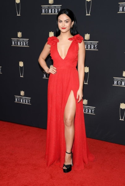 ATLANTA, GEORGIA - FEBRUARY 02: Camila Mendes attends the 8th Annual NFL Honors at The Fox Theatre on February 02, 2019 in Atlanta, Georgia. (Photo by Jason Kempin/Getty Images)