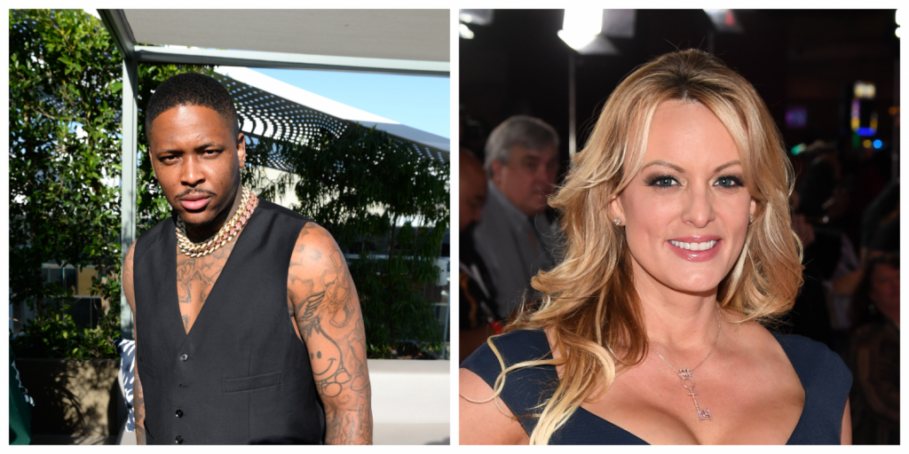 Watch rapper YG bring out Stormy Daniels to yell Fuck