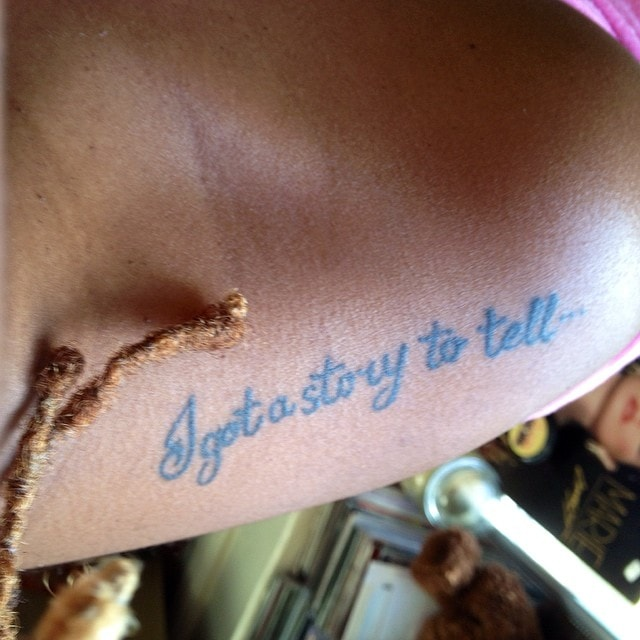 Glennisha Morgan's Biggie Tattoo